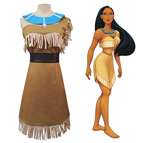 Li Largo Pocahontas Cos Pocahontas Indian Princess Cosplay Disfraz Spot (Size : XX-Large)