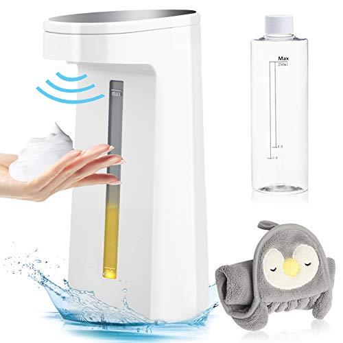 GEMITTO 250 ml Seifenspender Automatisch, Berührungsloser Batteriebetriebener Elektrischer Seifenspender mit Sensor Infrarot, Schäumende Seifenspender für Badezimmer Küche Hotel Büroarbeitsplatte
