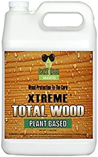 Seal It Green® Extreme Total Wood - Clear is A Plant Based, Non-Toxic Wood Sealer That Helps Protect All Wood Types from Water Damage, Cupping, Cracking and The Sun. Protection Lasts 15+ Years.