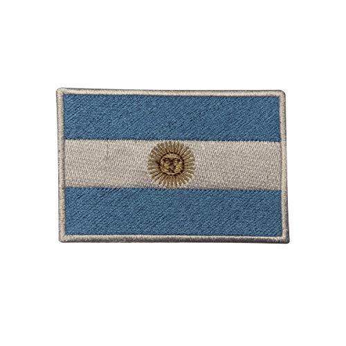 Aufnäher mit Argentinien-Flagge, bestickt, zum Aufbügeln oder Aufnähen, für Kleidung etc.