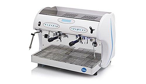 Carimali Espressomaschine Kicco 2-gruppig, weiß, Siebträger inkl. CF Espresso