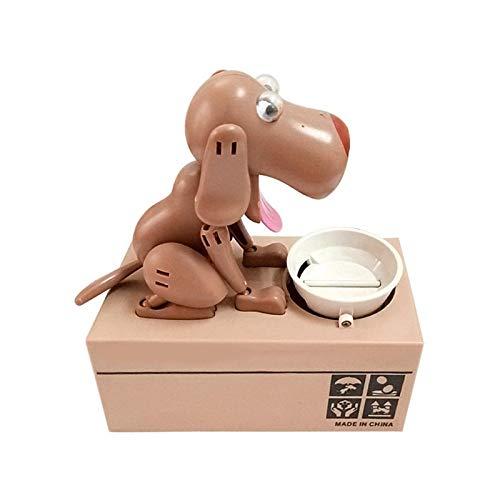 ZHEMAIDZ piggy bank Piggy Bank Hungry Eating Dog Coin Case Money Box Collection Gift for Kids Children Funny Toy (Color : 02)