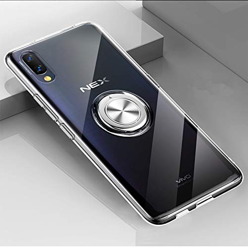 Custodia® Festigkeit Smartphone Hülle mit Ring für vivo NEX S(Weiß)