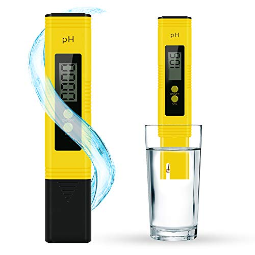 SAKEYR PH Tester Digital for Water High Accuracy PH Water Tester PH Meter with 0-14 PH Measurement Range ATC 0.01 PH High Accuracy for Household Drinking, Pool Aquarium Water
