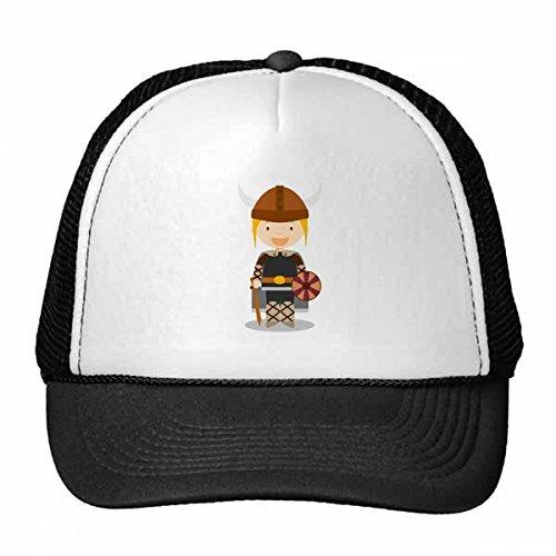 DIYthinker Schweden Viking-Karikatur Trucker-Mütze Baseballmütze Nylon Mütze Kühle Kind-Hut-Justierbare Kappe Geschenk Kinder
