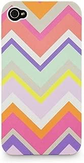 All For Color Apple iPhone 4 / 4S Chevron Stripe Print Snap Case -Multi-Color-