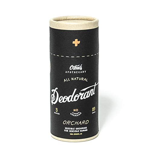 O'Douds Natural Deodorant for Men & Women - Vegan Deodorant - Aluminum Free Deodorant with No Parabens or Sulfates - Orchard Scent (3oz.)