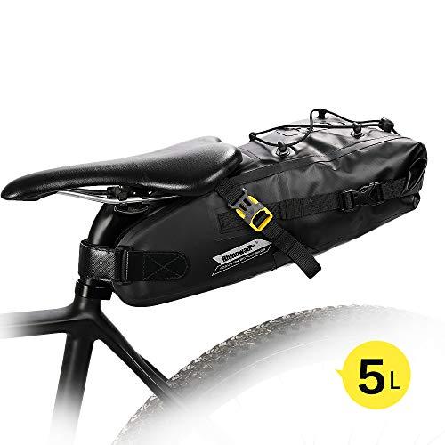 Wildken Fahrrad Satteltasche wasserdichte Fahrradsitz Tasche Rahmentasche Oberrohrtasche für Mountainbike Fahrräder Rennräder (5L)