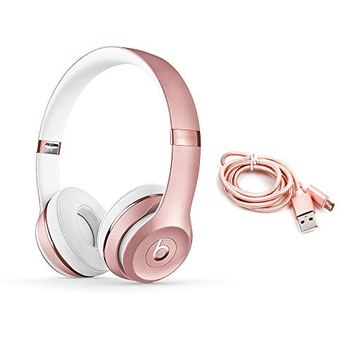 Beats Solo3 - Cuffie wireless On-Ear - Oro Rosa + Cavi Micro USB.
