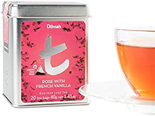 Dilmah Tea,Rose with French Vanilla, 20 Luxury Leaf Tea bags