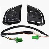 Accessoires de réparation Automobile for Mitsubishi Outlander 2013-2019 Xpander Régulateur de Vitesse Commutateur Commande au Volant Commutateur Bouton Audio Switch Volume (Color : Black 1 Pair)