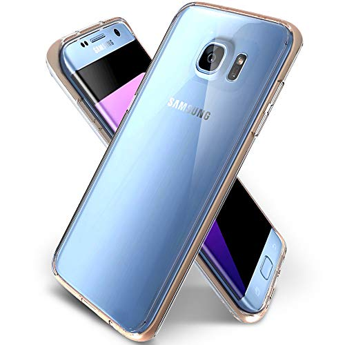 Galaxy S7 Edge Case, Samsung Galaxy S7 Edge Clear Case, Jeylly Slim Thin Soft TPU Clear Crystal Shock Absorbing & Scratch Hybrid Rubber Plastic Phone Case Cover for Galaxy S7 Edge SM-G935