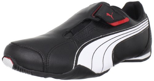 PUMA Men's Redon Move Lace-Up Fashion Sneaker, Black/White/High Risk Red, 10 M US