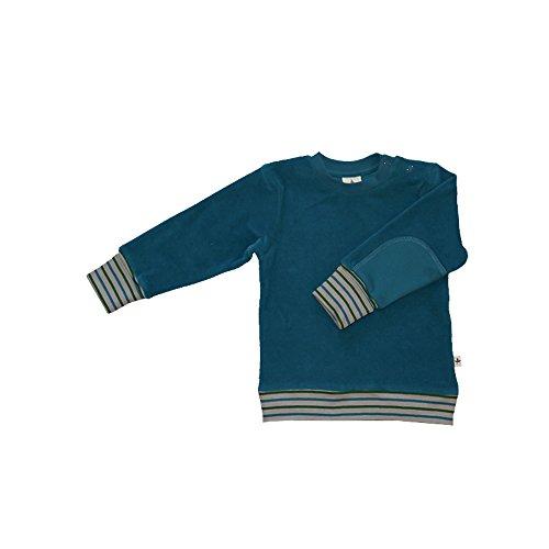 Leela Cotton Baby/Kinder Nicky Sweat-Shirt Bio-Baumwolle, Ozeanblau, Gr. 98/104