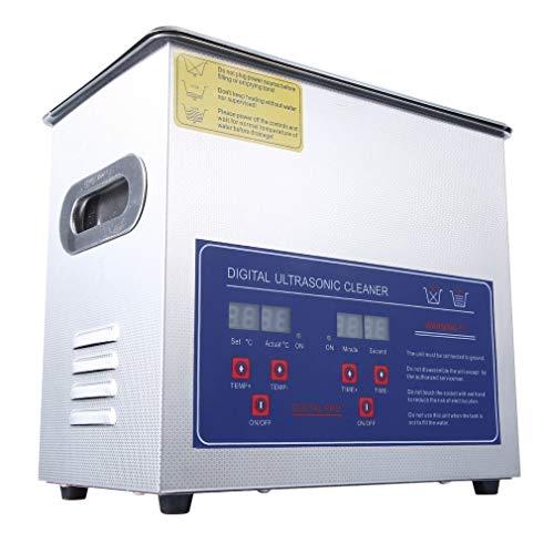 Ultraschallreiniger, Ultraschall Ultrasonic Cleaner Ultraschallreinigungsgerät Edelstahl mit Digitaler Anzeige,Reiniger Ultraschall Ultrasonic Cleaner, für Schmuck Brillen und Zähne, (200W-10L-Type2)