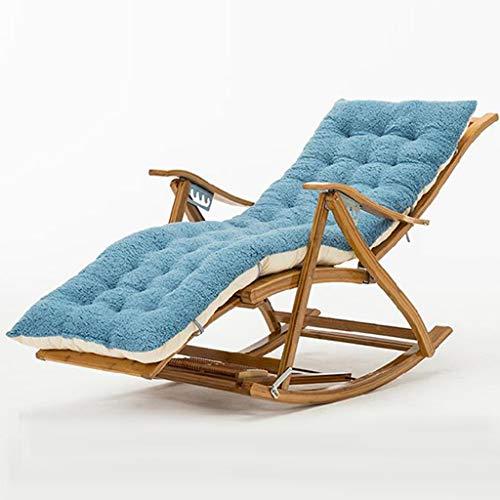 WUTONG Silla Mecedora de Camping Relax Lazy Armchair Amplia versión de rodajas de bambú Fuerte, Fresco, fácil de Limpiar, más amigable con la Piel