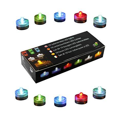 10 Luci LED Subacquee Colorate per Piscina, Acquario, Vaso, Festa - Candele Impermeabili Cambiano Colore di PK Green