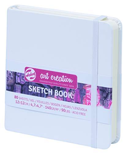 Talens Art Creation Sketch Book, Weiß 12x12cm,140g, 80Blatt