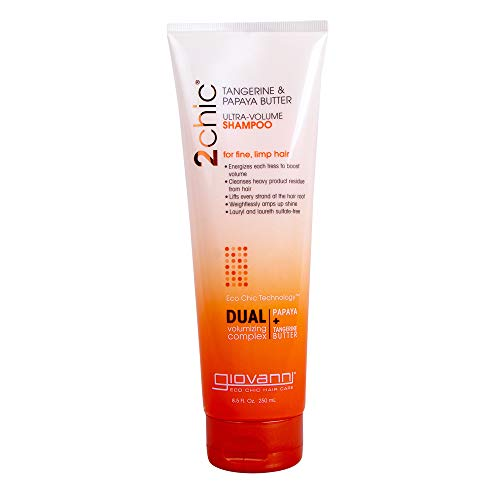 Giovanni 2Chic Ultra-Volume Tangerine & Papaya Butter Shampoo, 8.5-Ounce by Giovanni Cosmetics, Inc.