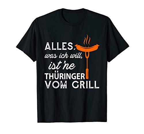 Thüringer vom Grill T-Shirt Bratwurst Grillen Grillfest T-Shirt