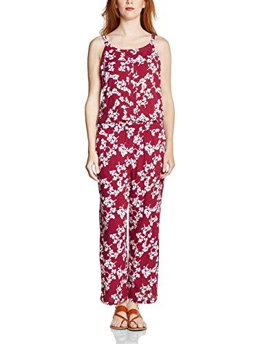 Street One Damen 372361 Jumpsuit, Wine red, (Herstellergröße:36)