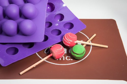 Truffly Made. XL Round Chocolate Truffle, Jelly and Candy Mold, 35 cavities, One step candy pop-out