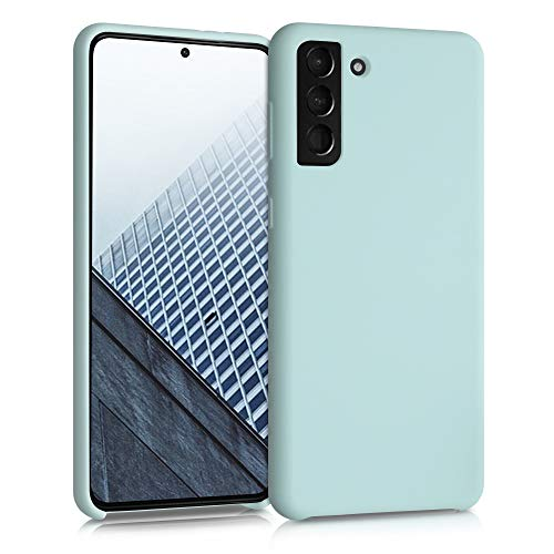 kwmobile Carcasa Compatible con Samsung Galaxy S21 Plus - Funda de Silicona para móvil - Cover Trasero en Menta Helada