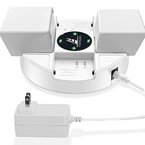 Battery Charger for Arlo Rechargeable Batteries FARSAIL 4 Slots Batteries Charging Stations Compatible with Arlo Pro, Arlo Pro 2, Arlo Go and Arlo Security Light
