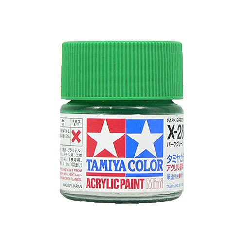 タミヤ アクリルミニ(光沢) X28 パークグリーン