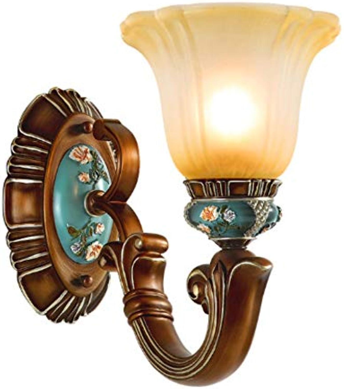 Xiadsk Korridor glasmalerei Wandleuchte führte Arandela Schlafzimmer Gang nachtwandlampe Lampe Retro Wohnzimmer kinderzimmer Wandleuchte