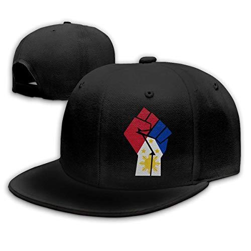 XaMiner Philippinen Flagge Faust-1 Männer/Frauen Mode verstellbare Baseballkappe Snapback Plain Cap