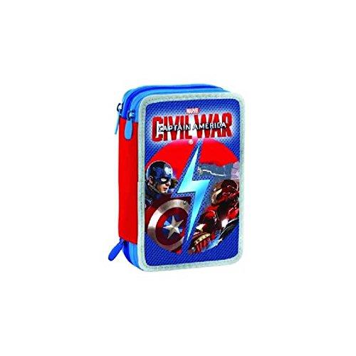 Estuche de 3 cremalleras de Capitán América Civil War