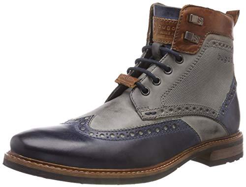 bugatti Herren Klassische Stiefel, Mehrfarbig (Blue/Grey)