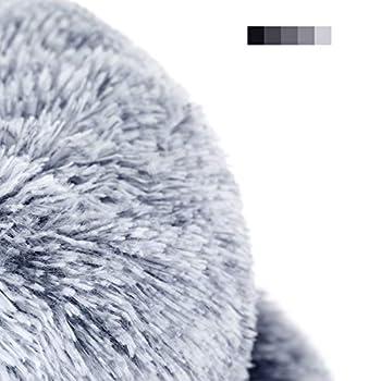 FEANDREA Panier pour Chien, Lit pour Chat, Doux, 80 cm, Gris PGW040G01