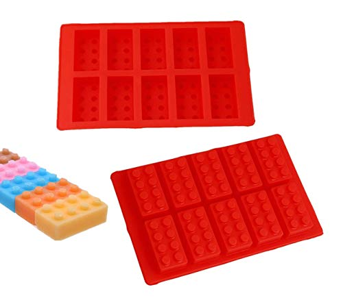 2Pack Building Brick Ice Tray or Candy Chocolate Mold for Lego Lovers!