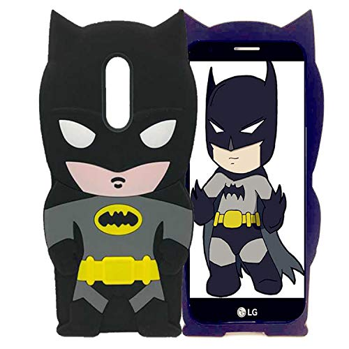 LG Aristo, Tribute Dynasty, Fortune Case Cute Batman 3D Cartoon Soft Silicone Animal Rubber Shockproof Anti-bump Protector Lovely Kids Girls Gifts Cover For LG Phoenix 4/ K8 2017/Aristo 2 Plus/ Zone 4