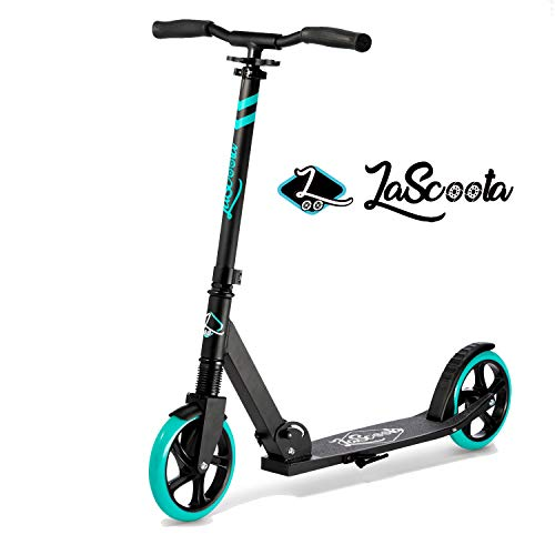 Cheapest Price! Lascoota Scooters for Kids 8 Years and up - Quick-Release Folding System - Dual Susp...