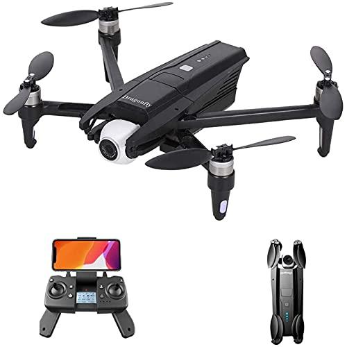 JJDSN Dron GPS con cámara 4K HD para Adultos, Dron WiFi 5G con cardán de 2 Ejes, Motor sin escobillas, cuadricóptero RC Plegable con GPS de Regreso a casa, sígueme, Bolsa de Almacenamiento, 3 Bate