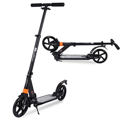 Scooters for Adults Teens, Kick Scooter with Adjustable Height Dual Suspension and Shoulder Strap Big Wheels Scooter Smooth Ride Commuter Scooter Best Gift for Kids Age 10 Up