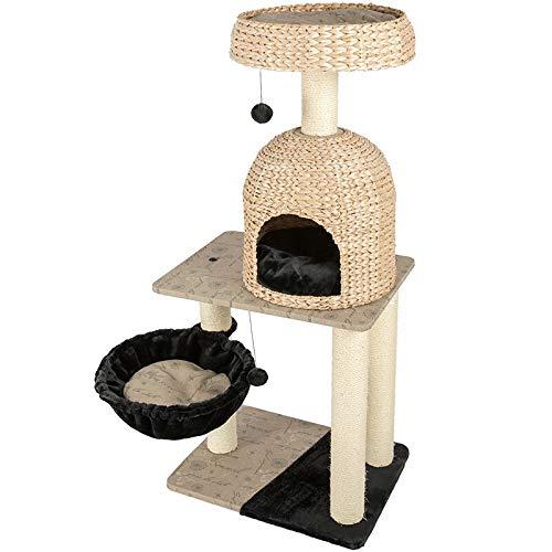 Tiragraffi Sisal Pet Struttura for Arrampicarsi Albero Interattivo Cane Tessitura Artiglio Grinding Grande Albero Scratching Cat in Estate (Colore : Wood, Dimensione : Taglia Unica)