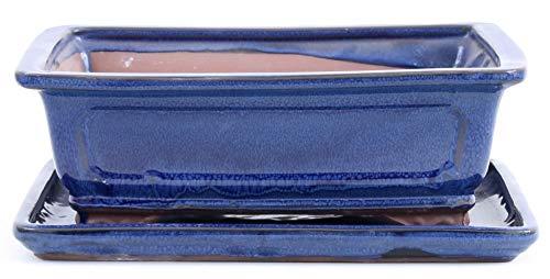 Bonsai 31033 Bol carré avec Dessous-de-Verre Bleu 25 x 21 x 9 cm