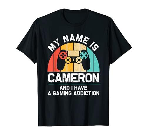 CAMERON Regalo Nombre Personalizado Funny Gaming Geek Birthday Camiseta