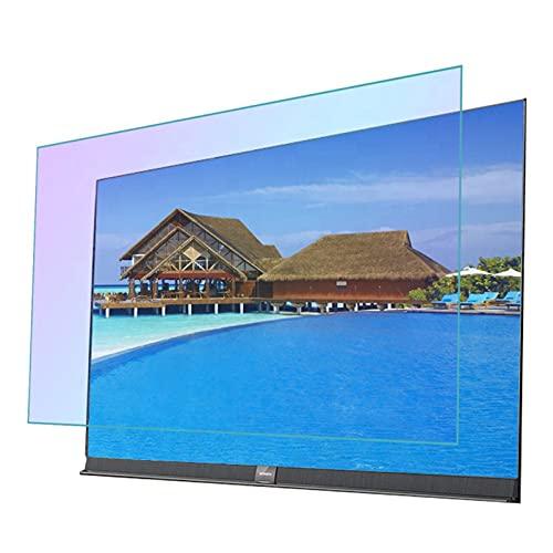 GFSD Película de Luz Azul for Pantalla TV Prevenir Miopía 27-75 Pulgadas Protector de Pantalla TV Antideslumbrante Suaviza Luz Reducir Radiación, 58 Tamaños