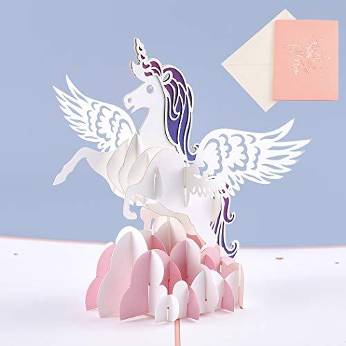 Sethexy 3D Tarjetas De Felicitación De Cumpleaños Regalo hecho a mano para amigos Familia Amantes
