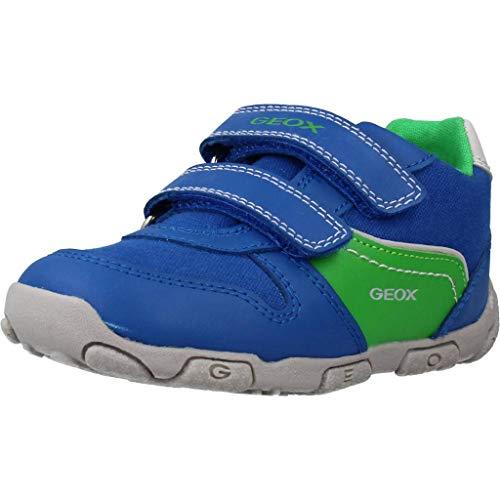 Geox Kinder Sneaker B BALU B Jungen Kleinkindersneaker mit Klettverschluss Blau (Royal/Green) Größe 24 EU