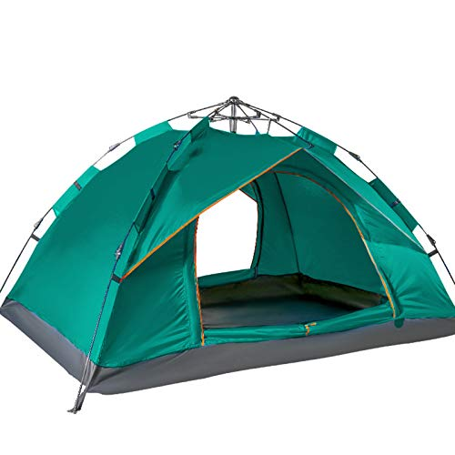 3-4 Person Outdoor Quick Automatic Open tents Single Layers Tent Waterproof Camping Hiking Ultraviolet-proof Mosquito-proof Tent,Green