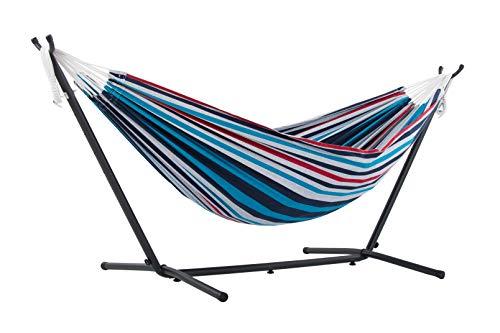 Vivere UHSDO8-12 - Hamaca con soporte incluido, multicolor, 250 cm, doble, diseño Vasquera