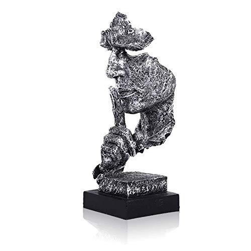 Lependor Silence est d'or - 34cm Statues d'hommes Silencieux...