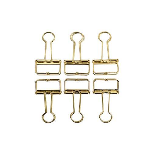 Oblique-Unique® 6 Foldback Klammern Klemmen Papierklammern Vielzweckklemmen Vielzweckklammern Bürobedarf Haushaltsartikel - Farbe wählbar (Gold)