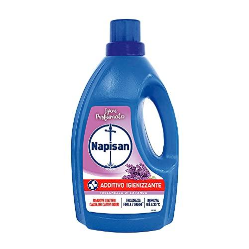 Napisan Aditivo higienizante para lavadora, aditivo desinfectante líquido para la colada, frescura de lavanda, paquete de 1,2 litros – 1230 g
